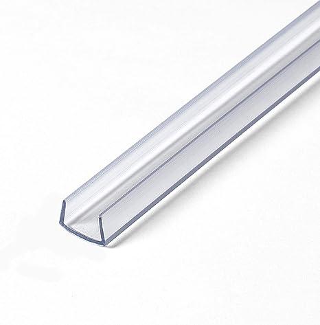 "Outwater Plastics Gloss Black 3//4/"" Rigid PVC Plastic U-Channel//C-Channel"