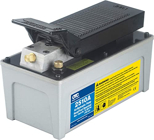 OTC 2510A Stinger 10,000 PSI Foot Operated Air/Hydraulic Pump for Rams, Presses, & Hydraulic Pullers