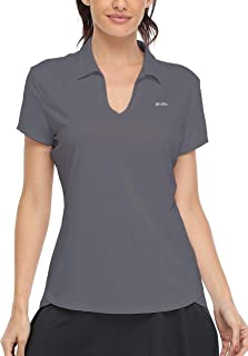 Willit Women's Golf Polo Shirts Short Sleeve UPF 50+ Tennis Running Athletic Dri Fit Tops