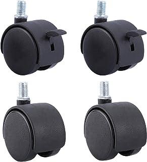 50 mm zwenkwielen 2 inch nylon 360 graden draaien meubels zwenkwiel vervangende zwenkwiel, bureau zwenkwielen, dubbel wie...