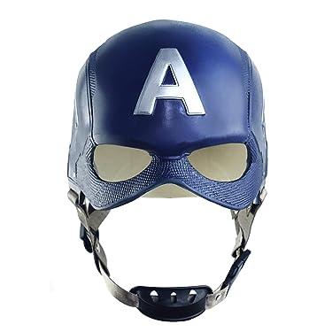 Captain America Helmet Cosplay Avengers Latex Mask For Adult Halloween Costume Accessory