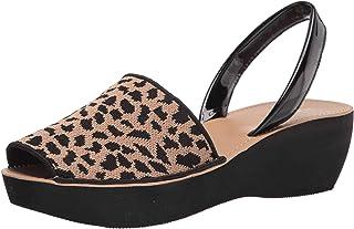 Kenneth Cole REACTION Women's Wedge Sandal, Natural/Black, 7.5