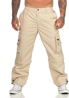 ZARMEXX Pantalon cargo convertible pour homme - Pantalon de randonnée - Pantalon de loisirs - Pantalon d'été avec taille e...