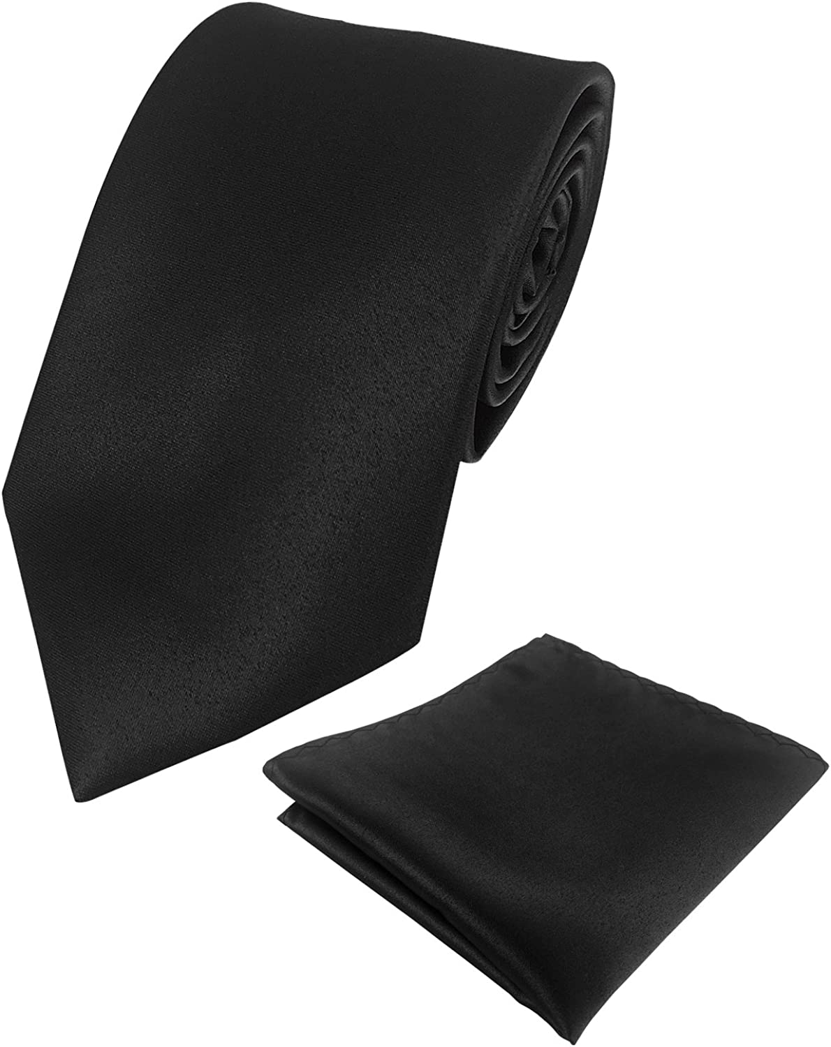 KOOELLE 100% quality warranty! Mens supreme Satin Silk Solid Ties Colors Pure Neckti Tuxedo for