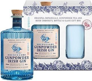 Gunpowder Irish Gin mit Geschenkverpackung und Gin Glas 1 x 0,5l