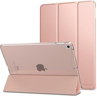 MoKo Funda para New iPad Air (3rd Generation) 10.5 2019/iPad Pro 10.5 2017 - Ultra Slim Función de Soporte Protectora Plegable Smart Cover Trasera Transparente Durable - Oro Rosa (Auto Sueño/Estela)