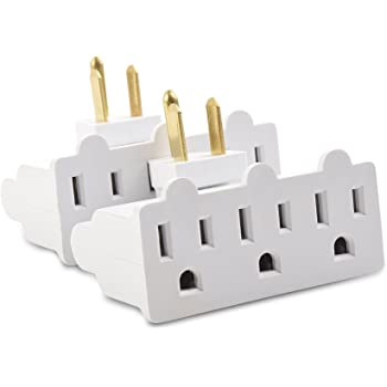 Cable Matters 2-Pack 3-Outlet Grounded 180 Degree Swivel Wall Tap