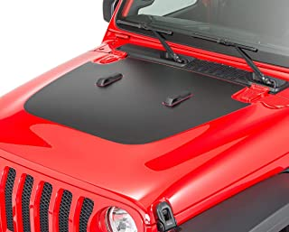 Ichthus Graphics Hood Decal Fits Jeep Wrangler JL 2018-2020 and Gladiator JT 3M Vinyl Blackout Sticker Accessories Gloss or Matte Black Free Install Tool Squeegee (A-Matte Black)