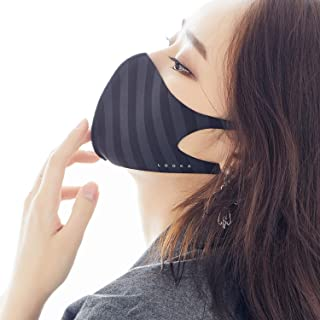 MASK Protective Fashion Air Mask | Washable and Reusable | Double Layered Face Mask | Modern Stripe Black X Grey