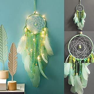Gijoki Dream Catcher Wall Hanging Ornament Home Decorative Pendant with Night Light Dream Catchers