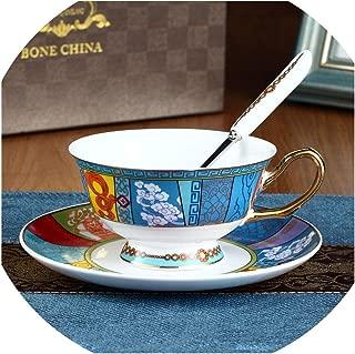 骨の磁器のカップとスプーン皿、シャングリ・ラ、200mlでソーサーセラミックティーカップコーヒーカップ&ソーサーカップクラシックティーカップ