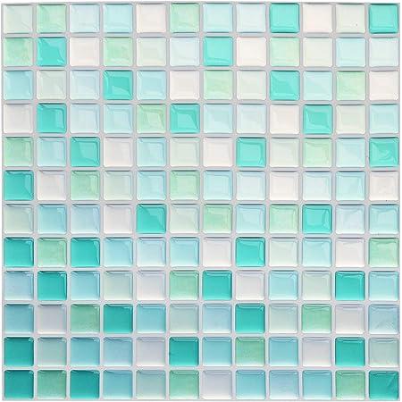 3D Mosaic Self adhesive Bathroom Kitchen Decor Wall mosaic Tile Stickers PVC