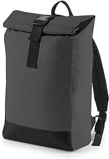 BagBase - Mochila enrollable (Talla Única) (Negro)
