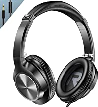 VOGEK Over Ear Headphones with Mic, Stereo Bass Wired...