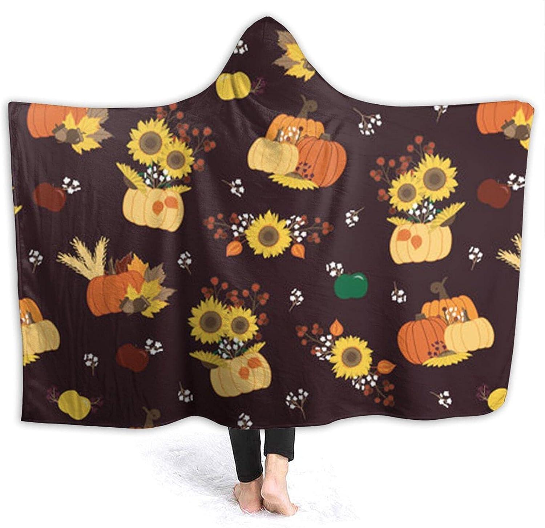 Industry No. 1 Pumpkin Sunflower Hoodie Blanket Flannel Louisville-Jefferson County Mall Wearable-Hooded Tahalo