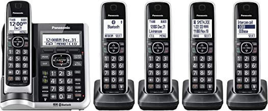 Panasonic Link2Cell Bluetooth Cordless Phone System with HD Audio, Voice Assistant, Smart Call Blocking and Answering Mach...