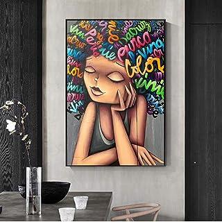 Quadro su Tela Stampa Artistica su Tela Ginnastica Ragazza Quadro su Tela Poster e Stampe Pop Art Quadri Moderni per Soggiorno Decor 50x70 cm Senza Cornice