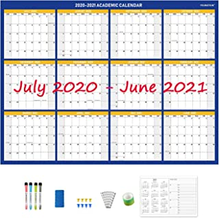 YOUNGTION 2020 Double-Sided 36 x 48 Inches Jumbo Laminated Dry Erase Academic Calendar, Two-Year Wall Planner with Accesso... photo