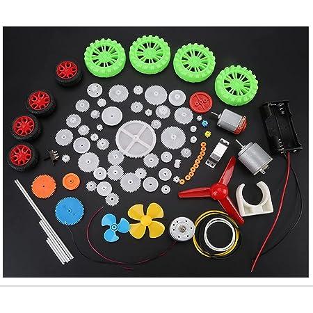 Wytino Engrenages Kits, Engrenages en Plastique Voiture de Jouet Accessoires de Bricolage Moteurs Worms Ceintures Manchons Poulies Roues Engrenages Assortiment