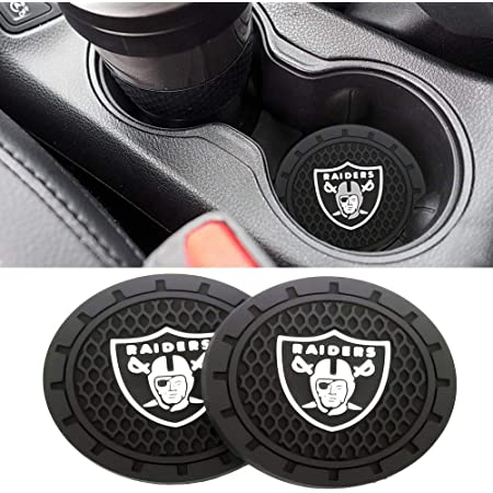 Fujun Upgraded 2 Pcs 2.75 inch Car Interior Accessories Anti Slip Cup Mat for All Vehicles Green Bay Packers