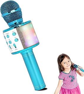 HALOVIE Kids Microphone Bluetooth Wireless Microphone Handheld Speaker Karaoke Equipment for Home KTV Player Party Singing Birthday Christmas Gifts for Girl Boy