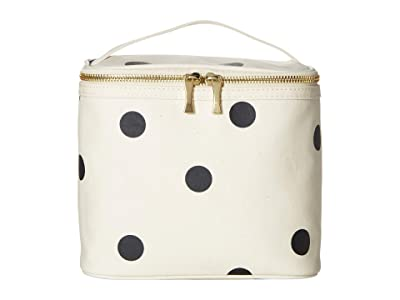 Kate Spade New York Deco Dot Lunch Tote (Black/Cream) Handbags
