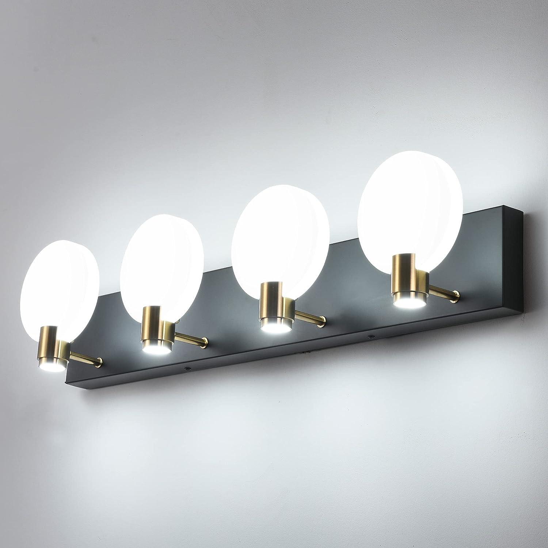 PRESDE Black Popular product Bathroom Vanity Lights Modern LED Max 85% OFF 4 Fixtures