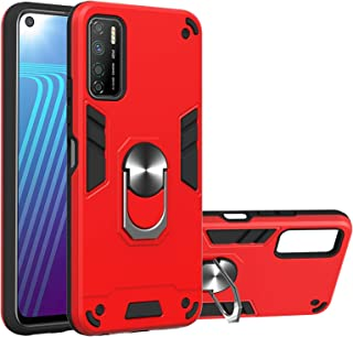New Mobile Phone Protective Cases For Infinix Note 7 Lite Armour Series PC + TPU Protective Case with Ring Holder
