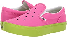cfffa22d6a (Watermelon) Carmine Rose Lime Green. 43. Vans Kids. Classic Slip-On  Platform (Little Kid Big Kid)