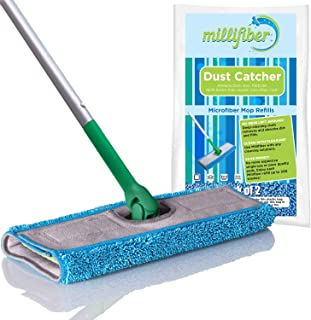 Millifiber Mop Refills (Pack of 2) Washable Reusable Microfiber Mop Pads Compatible with Swiffer Sweeper. Mop Replacement Cover.