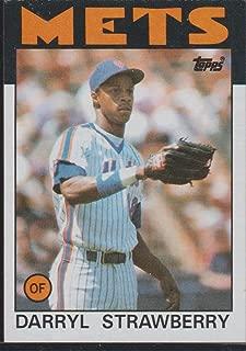 1986 Topps Darryl Strawberry Mets Baseball Card #80