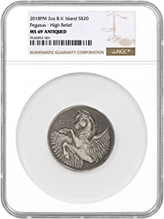 2018 VG 2018 VG High Relief Silver Pegasus Antiqued $ Coin $20 MS69 NGC 20 Dollar MS69 NGC