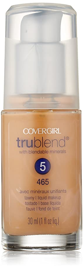 メダルテンポ香りCoverGirl Trublend Liquid Make Up Tawny 465
