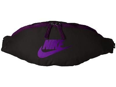 Nike Heritage Hip Pack (Black/Black/Voltage Purple) Bags