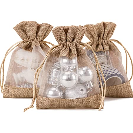 Candy Bag SET of 150 Burlap Favor Bag Rustic gift bag Burlap wedding Wedding Gift Bag Natural Rustic Linen Bag small linen bag