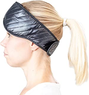 Ice Migraine Head Wrap by Soothing Company - Heat Therapy Microwavable Compression Pad for Headache, Jaw and Neck Pain - Cooling Mask for Tension and Stress Relief, Flexible and Reusable