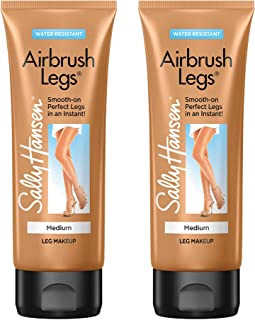 Sally Hansen Airbrush Legs, Leg Makeup Lotion, Medium, 4 Ounce (Pack of 2)