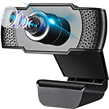 IVSO Webcam with Microphone, HD 1080P USB Camera Plug and Play, Computer Camera for PC Laptop Desktop Video Calling Record...