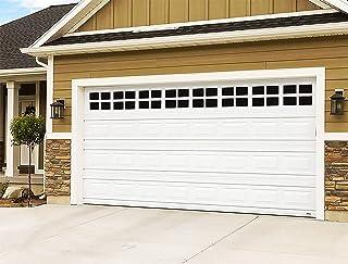 2 Car Garage Kits - 32 Pcs Household Easy Installation Magnetic Windows Panels for Car Garage Door Panes Fake Faux Magneti...