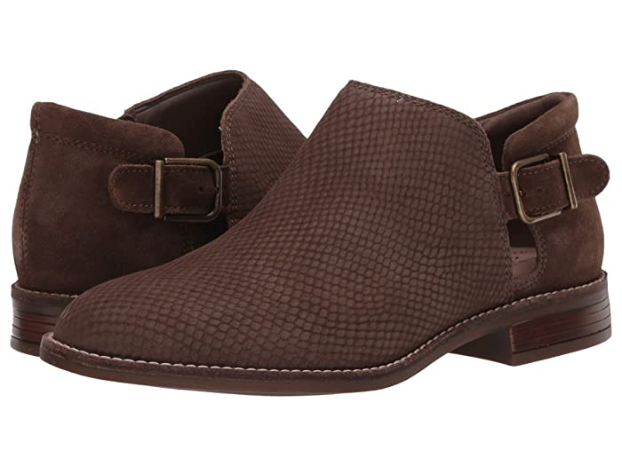 Clarks  Camzin Angie (Olive Suede/Nubuck Combi) Womens Shoes