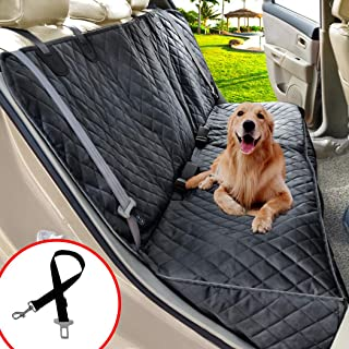 Henkelion Dog Seat Cover for Back Seat, Dog Car Seat Covers for Dogs Pets, Car Hammock for Dogs, Bench Rear Seat Cover for...