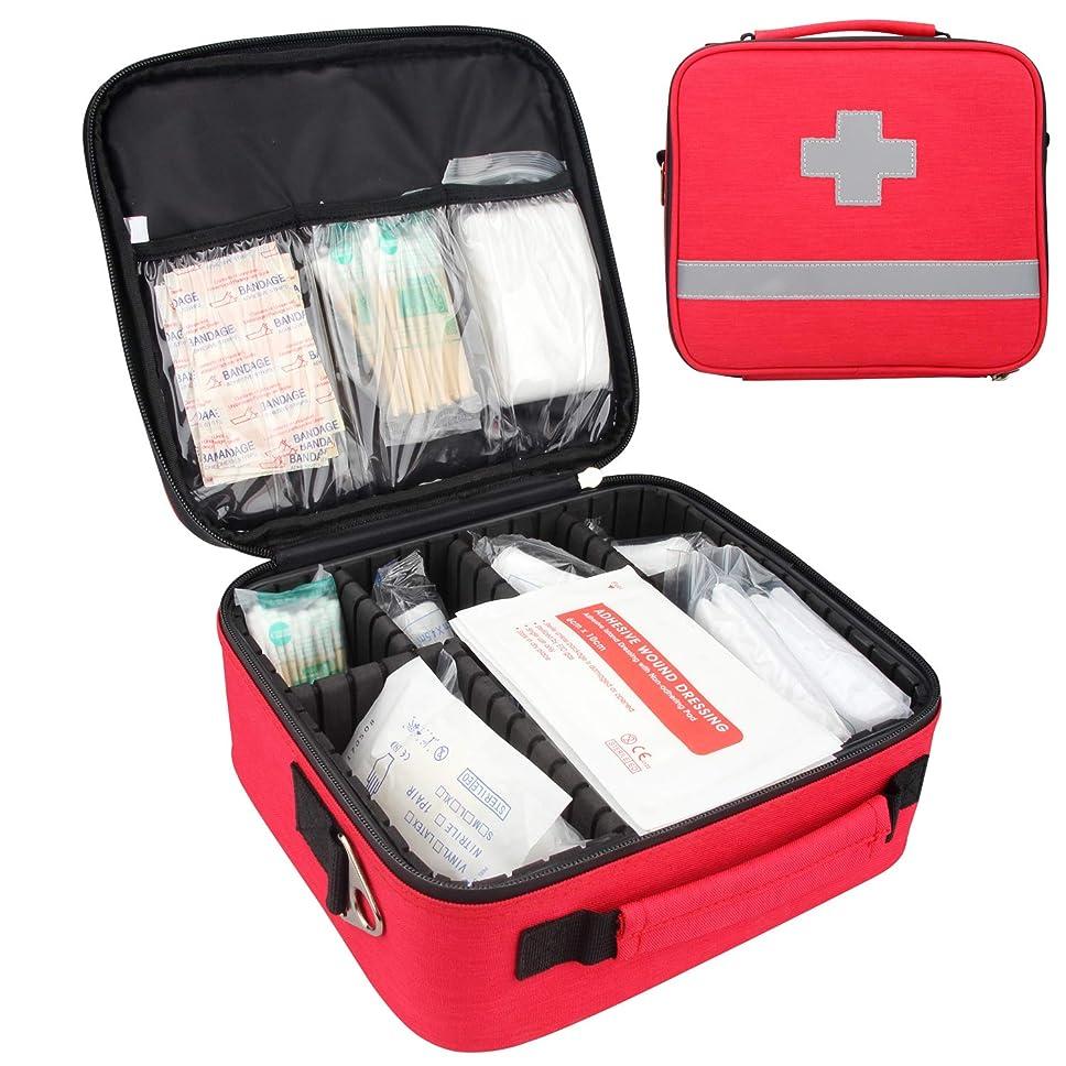 会計溶ける咲く応急処置キット,プロフェッショナル 防水 プレミアム ナイロン 救急バッグ セパレーター付け