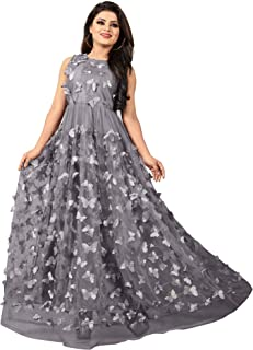 Women's Butterfly Anarkali Gown ( marriage dress for female amazon