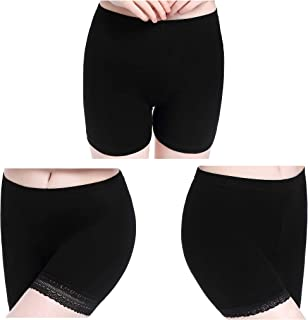 Womens Lace Short Skirts Safety Pants Leggings - Stretchy Ultra Thin Workout Athletic Leggings for Women