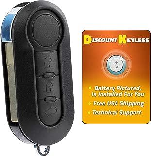 For 12-15 Fiat 500 14-15 500L Keyless Entry Flip Key Remote Fob 3btn LTQF12AM433TX, 3659A-FI2AM433TX