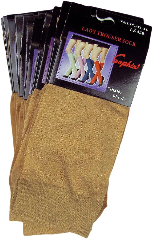 Lady's Trouser Socks (12 pcs)