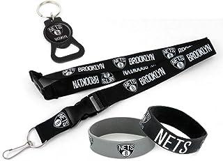 aminco NBA Team Lanyard, Black Bottle Opener Keyring and Rubber Wristbands Gift Bundle