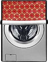 Stylista Washing Machine Cover Suitable for IFB 6.5 kg Front Loading Senorita WXS Printed Frieze Pattern Maroon