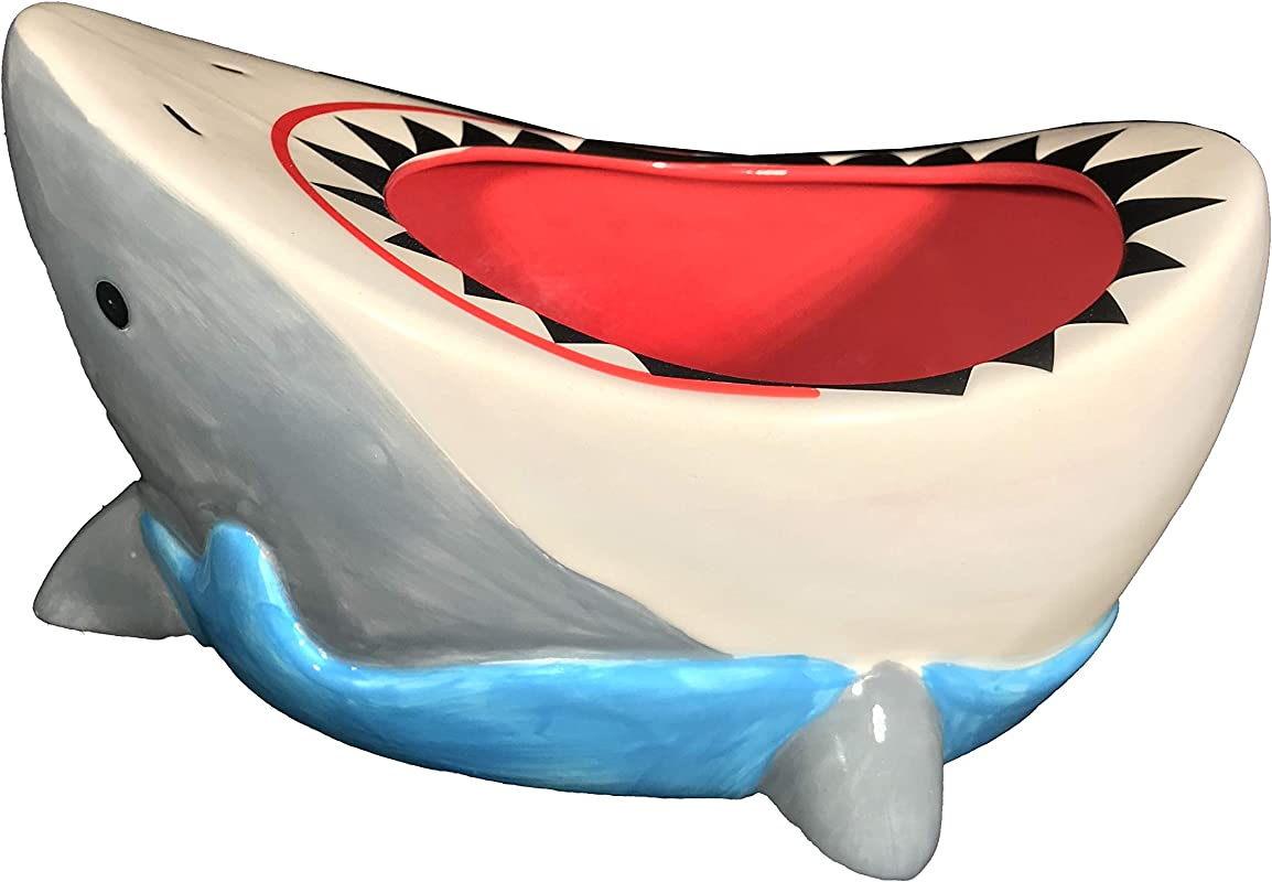 Great White Shark Bowl Funny Shark Attack Cool Candy Cereal Or Snack Bowl Gift By FunFamz