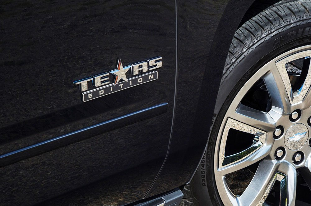 iJDMTOY (2 Chrome Finish 3D Texas Edition Emblem Badges for Chevrolet Silverado, GMC Sierra (Also Universal for Ford or Dodge Trucks)